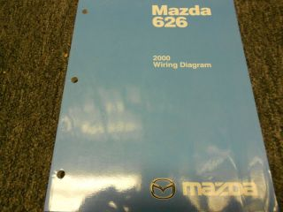 2000 Mazda 626 Electrical Wiring Diagram Service Repair Shop Manual Factory