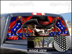Confederate Rebel Flag Universal Window Tint Graphic Decal Pickup Truck