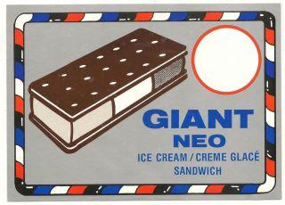 Giant Neo Ice Cream Creme Glace Sandwich Ice Cream Truck Decal Sticker
