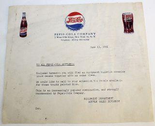 1951 Pepsi Cola Double Dot Bottle Glass Bottle Cap New York Letter