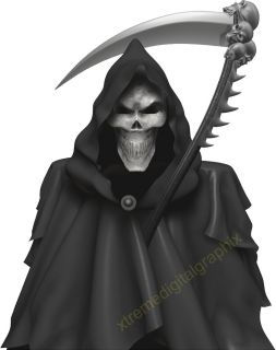 Car Truck Decals Grim Reaper Skull Vinyl Hood Auto Graphics 3ft