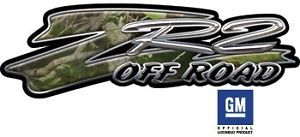 ZR2 4x4 Chevy GMC Truck Decals Real Camouflage OLP007