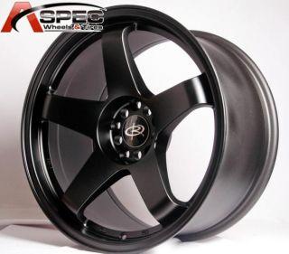 1 Rota P 45R 18x9 5 5x114 3 20 Flat Black Rims Wheels
