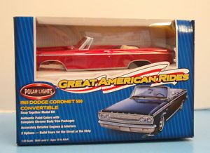 Great American Rides 1965 Dodge Coronet 1 25 Polar Lights Hobby Time Model SH