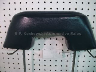 Chevy GMC Pickup Truck Interior Bench Seat Head Rest Blue Vinyl Headrest