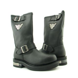 Harley Davidson Mega Conductor St Mens Sz 9 Black Boots Motorcycle Shoes