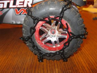 RC Traxxas Slash 4x4 Tire Chains for Snow and Ice 4x4 4 Chains