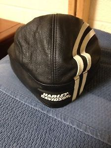Harley Davidson Leather Skull Cap
