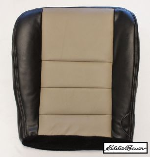 2005 Ford Excursion Eddie Bauer Leather Driver Side Bottom Seat Cover 2 Tone