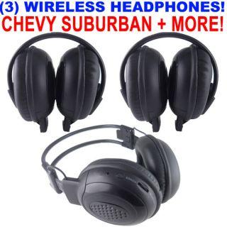 3 New GM Chevy Suburban Wireless DVD Car Headphones