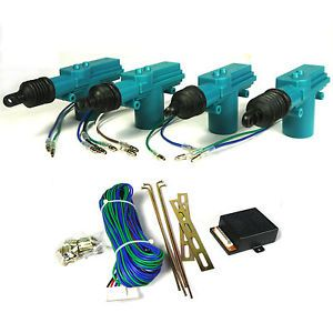 Full Set Power Central Locking Kit 4 Door Lock Actuator Security Kit Entry