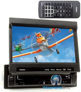 "Clarion VZ401 7"" TV Screen DVD CD USB MP3 iPod Bluetooth Equalizer iPhone Stereo"