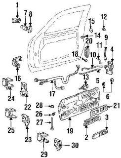 Power Door Lock Actuator Chevy GMC C1500 K1500 Left Driver Side