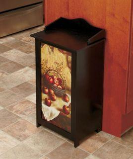 Wooden Kitchen Trash Bin