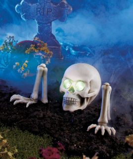 Solar Power Lighted Groundbreaking Skeleton Halloween Lawn Yard Haunted House