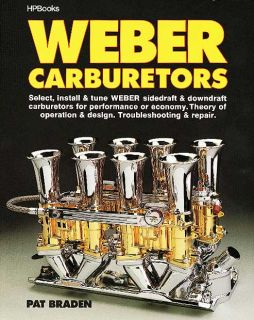 HP Books Inglese Weber Sidedraft Downdraft Carburetor Tuning Handbook NG1818