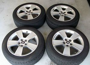 """18"""" Ford Mustang GT Alloy Wheels Rims Kumho Tires 2007 Silver"""