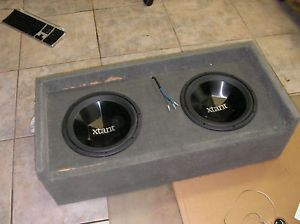 Boom Box Xtant Dual Coil 4 Ohm 12 inch Subwoofer 2 Car Speakers 250 Watts RMS