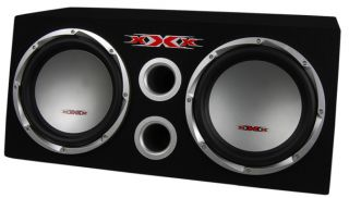 """XXX XBS 1200S 12"""" 1300W Car Subwoofers Subs Amplifier Amp Kit Sub Box Package"""