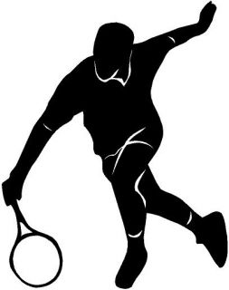 Tennis Volley Vinyl Decal Car Truck Window Sticker