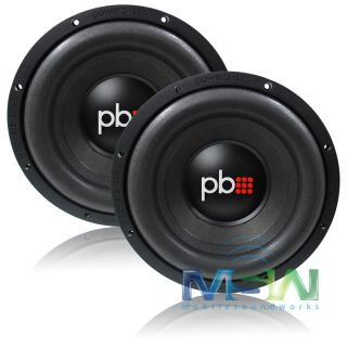 "2 Powerbass® s 124X 12"" Single 4 Ohm Car Subwoofers Sub Woofers S124X Pair 823871004232"