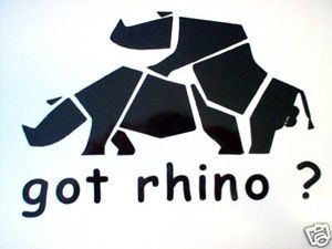 "Got Rhino Decal Sticker Yamaha UTV 4x4 8"" x 5 1 2"""