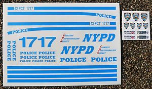 RC 'NYPD' 1 10th Scale New York Police Department Decals Stickers