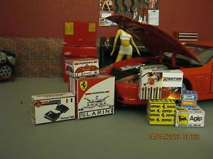 1 18 Diorama Ferrari Parts Boxes for Shop Garage Set 10 Made by A608