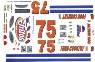 75 Jay Sauter Fritos Food Country Ford 1 64th HO Scale Slot Car Decals