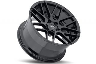 """19"""" Ground Force GF07 Concave Black Staggered Wheels Rims Fits BMW E38 740 750"""
