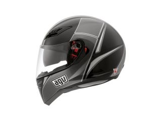 Agv Skyline Block Helmet LG Black Gunmetal Grey