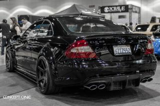 """20"""" Honda Accord Coupe Concept One CS6 6 0 Concave Black Staggered Wheels Rims"""