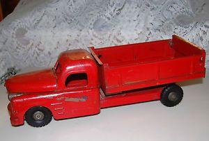 "Vintage Metal Steel Structo Toy Dump Truck 20"" Hood Lifts Engine Box Dumps Cool"