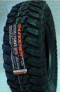 4 New LT235 75R15 Thunderer Mud Tires 235 75 15 Load Range C 6 Ply M T