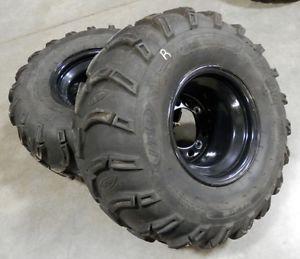 Kawasaki KFX 700 KFX700 ATV Rear Wheels ITP Mud Lite Tires V Force