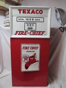 Vintage Metal Texaco Fire Chief Pedal Car Toy Gas Pump