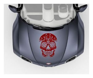 Sugar Skull Vinyl Decal Sticker Tribal Auto Truck Hood Cool Graphics Art 00037
