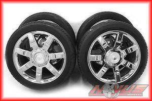 "22"" Cadillac Escalade Chrome Wheels Tires Chevy Tahoe 20 18"
