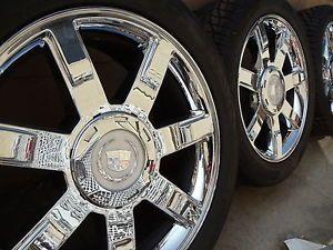 "22"" Cadillac Escalade Factory Chrome Wheels Rims 285 45 22 Tires 22 Inch"