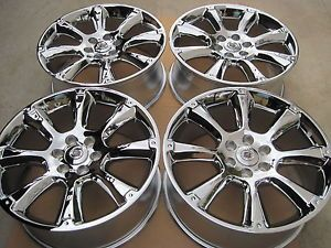 "22"" New Chrome Cadillac Escalade Chevy Avalanche LTZ Tahoe Suburban Wheels"