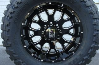 "20"" XD 808 Menace Wheels Black Toyo MT Tires 275 65R20 34 5"" Mud Tire 360410"