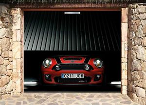 3D Effect Garage Door Billboard Cover Sticker Vehicle 3 Mini Car 9 02x8 04 Feet