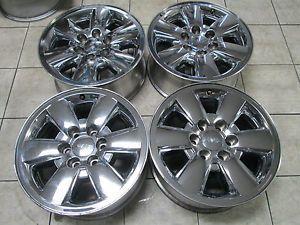 "18"" GMC Sierra Silverado Yukon Factory Chrome Clad Wheels Rims"