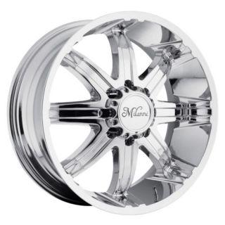 22 inch Milanni Kool Whip Chrome Wheels Rim 8x170 18 Ford F250 F350 Excursion