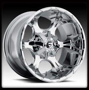 "20"" Fuel Dune Chrome Wheels Rims BFG BFGoodrich Lt 325 60 20 TA KM2 M T Tires"