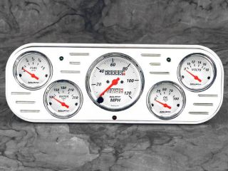 37 38 Chevy Car Billet Aluminum Gauge Panel Dash Insert Instrument Cluster 1938