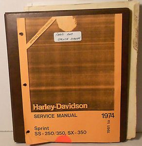 Harley Davidson Service Parts Manuals for 1961 to 1974 Sprint Motorcycles