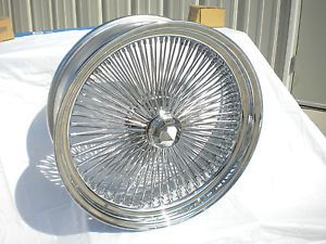 "18"" inch Chrome Wire Wheels New Set 4 Dayton Style 100 Spoke Rims Lowrider Wheel"