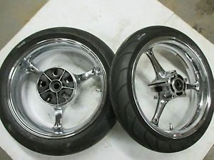 2005 2006 Suzuki GSXR 1000 GSXR1000 Front Rear Pair Chrome 17 inch Wheels Wheel