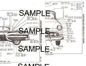 1955 Chevrolet Bel Air 210 55 Body Panel Diagrams Parts List Part Numbers GMBK